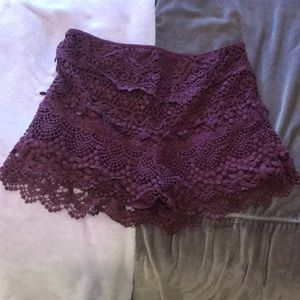 Urban outfitters lace shorts